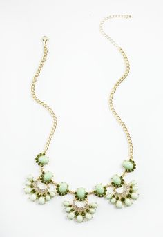 HARRIET ISLES: Olive and Mint Sparkle Necklace #shopmama #necklace #statement #mint