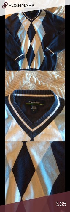Boys Facconable Cotton Sweater Keep your precious boy looking dapper in this French designer sweater! facconable Shirts & Tops Sweaters