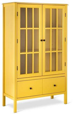 Windham Tall Cabinet With Drawer   Threshold (Yellow) $174.98 (target.com)