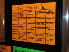 The Chore Chart (I nixed the Chore Wheel concept) is complete! Description from thrivinghomeblog.com. I searched for this on bing.com/images