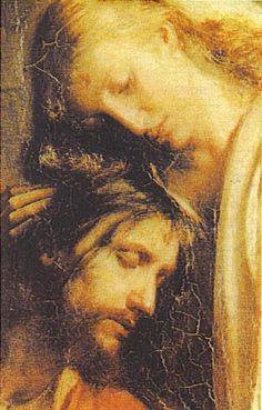 I love you Jesus forever Jesus Face, God Jesus, Catholic Art, Religious Art, Marie Madeleine, Crucifixion Of Jesus, Pictures Of Jesus Christ, Mary And Jesus, Mary Magdalene