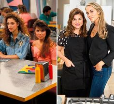 'Saved By The Bell': Tiffani Thiessen & Elizabeth Berkley Reunite Again Mark Paul Gosselaar, Tiffany Amber, Elizabeth Berkley, Tiffani Thiessen, Rip Paul Walker, Saved By The Bell, Michelle Rodriguez, Hollywood Life, Blonde Highlights