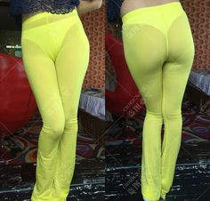 f1a6c9073f41ef Ultra Thin Transparent Women Leggings Sexy See Through Pants For Ladies  Erotic Lingerie Club Wear Female