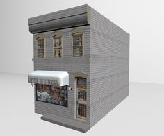 3D Model - The 3D book store building model for Poser and DAZ Studio is a facade model (no interior). The bookstore model is perfect for any urban or rural street scene. The well detailed texture includes a BUMP map, however the BUMP is not applied by default.