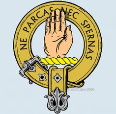Lamont Clan Crest: This clan descends from the original Scots who crossed the sea from Ireland, where their original name meant 'lawgiver', to found the kingdom of Dalriada.