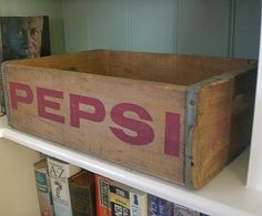 Vintage 'Pepsi' Crate by Vintage Crates, the perfect gift for Explore more unique gifts in our curated marketplace. Vintage Crates, Wooden Crates, The States Of America, Conveyor Belt, Metal Trim, Jute Rug, Traditional Looks, Modern Industrial, Pepsi