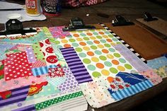 Scrap fabric clip boards. Might be a fun project with the kids.
