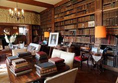 Tissington Hall's impressive Library is Sir Richard's favourite room