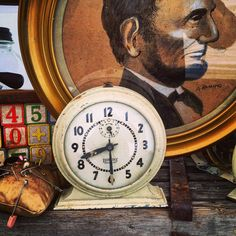 Alarm Clock / Eight Day / 1930's / 7 by assemblage333 on Etsy