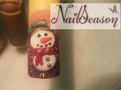 uñas para navidad / muñecos de nieve / uñas navideñas paso a paso 2014 - YouTube