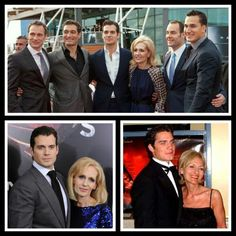 Henry Cavill with his mom and four brothers