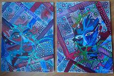 Labyrinth, schilderij van Zippora Meijer | Abstract | Modern | Kunst