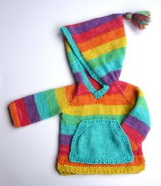 A custom hooded jumper knitted to your measurements, from 3 months up to 14yrs (30 chest approx). Please contact me for more details and to discuss