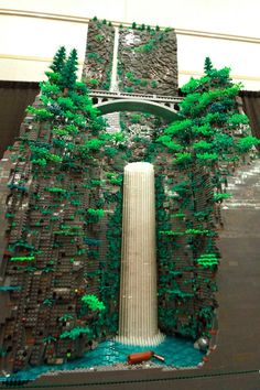 Portland Man, Erik Mattson, Built an 8-Foot Tall Multnomah Falls Out of LEGOs