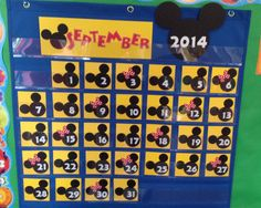 Perfect for a Disney themed classroom!    This made to order calendar set makes it fun and easy to build day and month awareness with fun Mickey