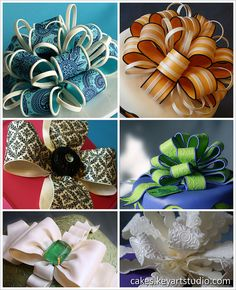 super interesting, complicated loopy bows -- LOVE! Gum paste/fondant bows by Cakes.KeyArtStudio.com, via Flickr