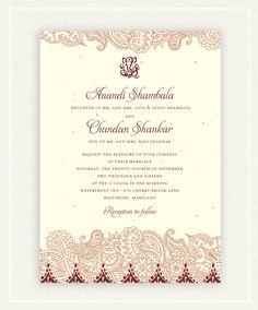 Shantih Classic Wedding Invitations