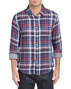 Joe's Jeans Mens Slim Fit Woven Shirt, S, Blue