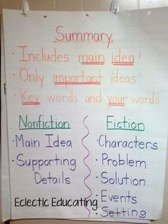 Summarizing, Summarizing, and MORE Summarizing! - Eclectic Educating