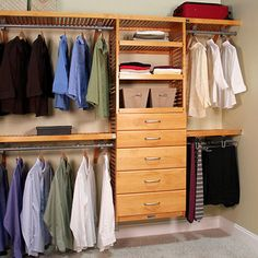 Honey Maple 5-drawer Deluxe Organizer - 17536523 - Overstock.com Shopping - Great Deals on John Louis Closet Storage