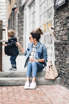 Shades of Blue (Hello Fashion) Mom Outfits, Jean Outfits, Fall Outfits, Maxis, Hello Fashion Blog, Mom Fashion, Pop Culture Halloween Costume, Fall Looks, Work Casual