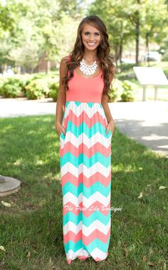 The Pink Lily Boutique - South Beach Chevron Maxi Dress CLEARANCE, $25.00 (http://thepinklilyboutique.com/south-beach-chevron-maxi-dress-clearance/)