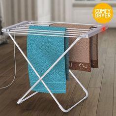 Estendal de Roupa Elétrico Comfy Dryer (6 Barras) ao melhor preço. Apresentamos a melhor alternativa aos secadores convencionais! Com este estendal de roupa elétrico para o interior.