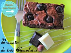 Brownies de três chocolates