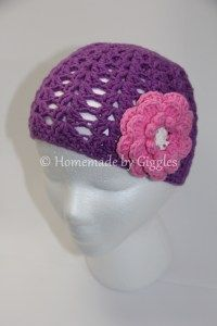 Shell Stitch Beanies, perfect for Spring. Crochet hat for all ages - free pattern linked. Homemade by Giggles