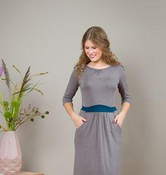 Entdecke lässige und festliche Kleider: Jerseykleid Nele m. lässigen Taschen made by Jekyll und Kleid via DaWanda.com