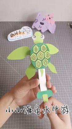 Paper Flowers Craft, Paper Crafts Origami, Diy Paper, Paper Crafts For Kids, Easter Crafts, Animal Crafts For Kids, Craft Activities For Kids, Toddler Crafts, Preschool Crafts