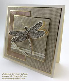 Dragonfly Dreams is one of the sets which spoke my name when I first opened up the 2017 Occasions Catalog. A lover of art nouveau, dragonflies have always been one of my favorite images. And what be