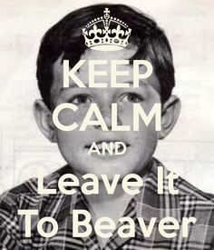 Keep Calm LEAVE IT TO BEAVER