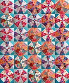 #KaffeFassett quilt top simulation | Flickr - Photo Sharing! #Patchwork and #Quilting