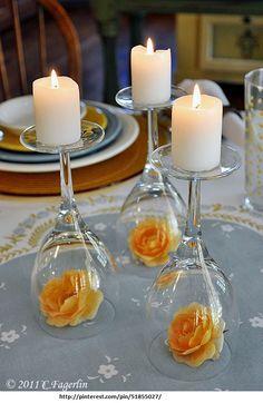 O Blog da Melina: Faça você mesmo: Arranjos de mesa