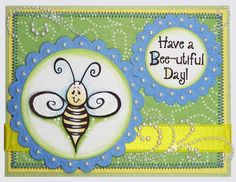 Inky Antics Rubber Stamps - Bee-utiful Day - Inky Antics