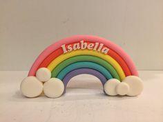 Fondant sugar paste rainbow cake topper by CreativeCakesbyNilar Rainbow Birthday, 3rd Birthday, Birthday Ideas, Zoe Cake, Sugar Paste, Kid Names, Beautiful Cakes, My Little Pony, First Birthdays