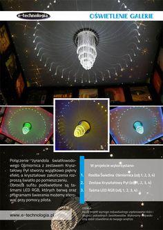 Żyrandol z elementami kryształowymi e-technologia