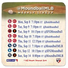 Check out the #moundball lineup! Which games will you be playing? Never played MLB's official twitter game? Click to find out how you can play here!