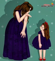Image may contain: one or more people, people standing and text Mother Daughter Quotes, Mother Art, Mom Daughter, Mother And Child, Love U Mom, Love My Kids, Mothers Love, Love Cartoon Couple, Girly M
