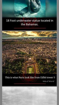 Paris Look, Weird World, Underwater, Tower, Statue, Movie Posters, Art, Weird, World