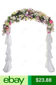 Wedding arch decorations google search wedding pinterest wedding arch way garden quinceanera party flowers balloon decoration white metal junglespirit Choice Image
