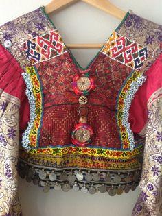 back of Kuchi jacket (Afghan), seemingly remade.