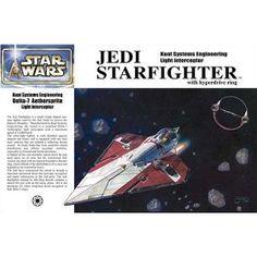 Star Wars Episode II Obi-Wan Kenobi Jedi Starfighter Japanese Collectible 1/72-Scale Model Kit $23.99