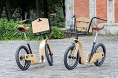 Draisienne pour adulte (Noir Vif, a modern version of an adult-sized dandy horse, which is an ancestor of the bicycle. Scooter Bike, Kick Scooter, Bike Motor, Velo Retro, Velo Design, Wood Bike, Kart, Cargo Bike, Pedal Cars