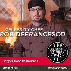 Celebrity Chef Spotlight – Rob DeFrancesco (Copper Door) | Restaurant Week New Hampshire