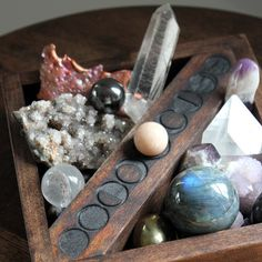 Discover handmade shelving and decor for for your home! Crystal, minerals and other magical, spiritual and meditative tools, all at Stone & Violet. Gems And Minerals, Crystals Minerals, Crystals And Gemstones, Stones And Crystals, Crystal Magic, Crystal Grid, Crystal Healing, Tarot, Wiccan