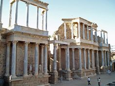 The Roman theatre,Merida