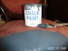 Paint & Fabric? DIY Using chalk paint on fabric via the Queen of Chairs.