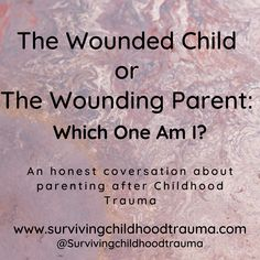 I had an honest conversation with myself about being the wounded child and how that has affected my parenting, causing me to unintentionally be The Wounding Parent to my adult son. Read along and let me know if you have ever struggles with this balancing act too. #Parentingaftertrauma #Parenting #TheWoundedChild #TheWoundingParent #PersonalResponsibility #Showupforyourchildren #TraumaInformed #HealingTrauma Ptsd Awareness, Dissociation, Inner Child, Trauma, Conversation, Anxiety, Childhood, Survival